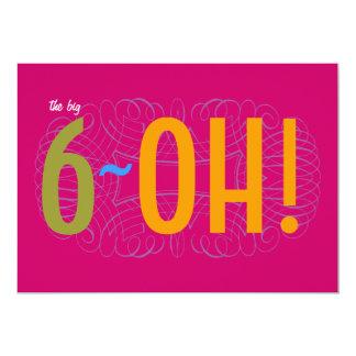 60th Birthday - the Big 6-OH! Card