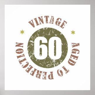 60th Birthday Vintage Poster