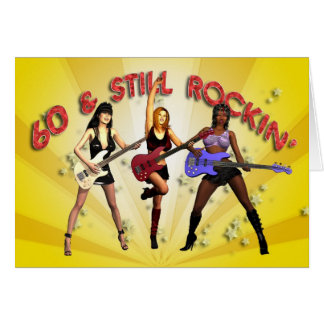 60th birthday with a girl band card