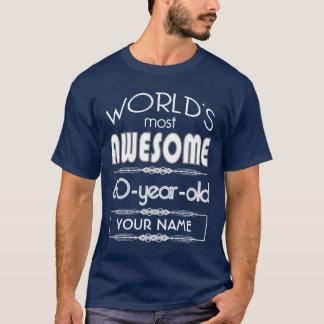 60th Birthday Worlds Best Fabulous Dark Blue T-Shirt