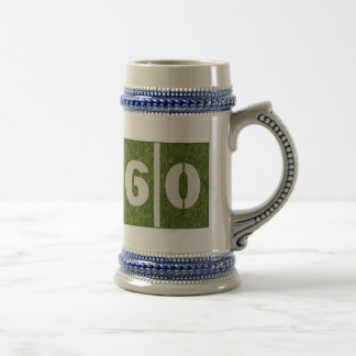 60th Birthday Yard Fooball  Glass Stein