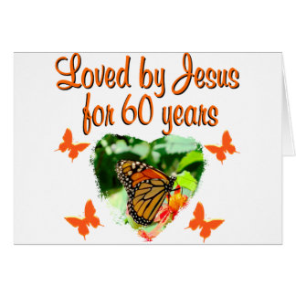 60TH BUTTERFLY BIRTHDAY DESIGN CARD