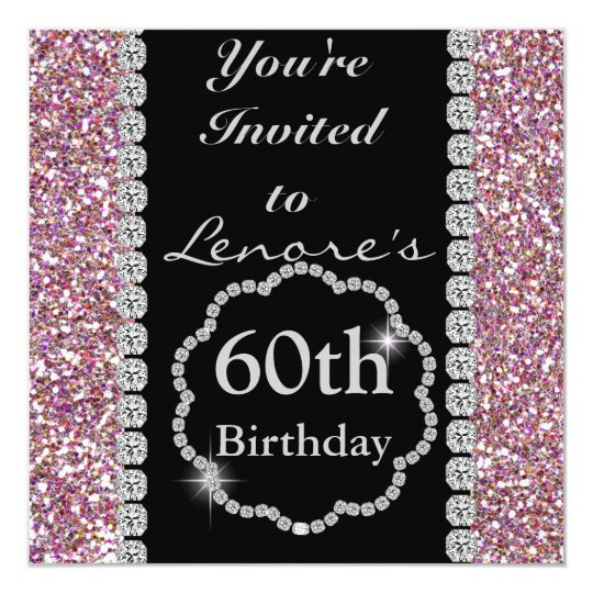 60th Classy Birthday Party Invitation