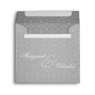 60th Diamond Anniverary Party in Silver Damask Envelope