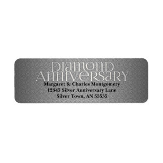 60th Diamond Anniversary Avery Label