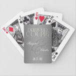 """60th Diamond Anniversary Damask Personalized Bicycle Playing Cards<br><div class=""""desc"""">For the couple who plays cards,  this is a lovely gift. Put their names and the date of their Diamond Anniversary on the card for a fun deck they will love to share with friends and family on game night.</div>"""