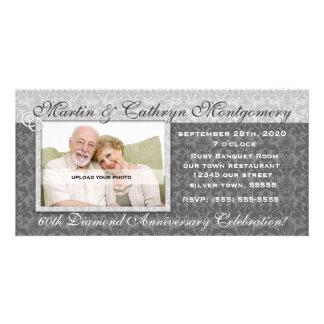 60th Diamond Anniversary Invitation Photo Card