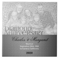60th Diamond Anniversary Photo Tile
