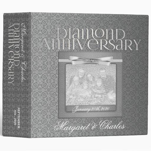 60th Diamond Anniversary Scrapbook Binder