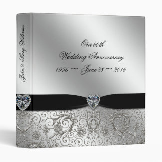 "60th Diamond Wedding Anniversary 1"" Binder"