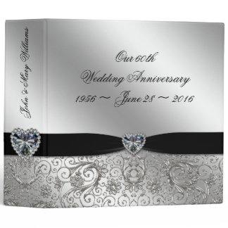 "60th Diamond Wedding Anniversary 2"" Binder"