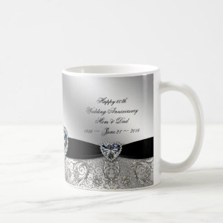 60th Diamond Wedding Anniversary Coffee Mug