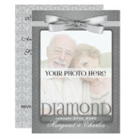 60th Diamond Wedding Anniversary Party Photo Card