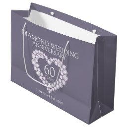 60th diamond wedding anniversary photo gift bag