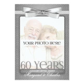 60th Diamond Wedding Anniversary Photo Invitations