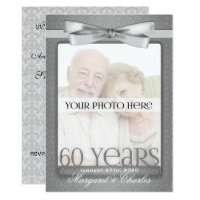 60th Diamond Wedding Anniversary Photo Party Card