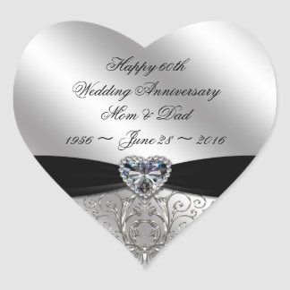 60th Diamond Wedding Anniversary Sticker