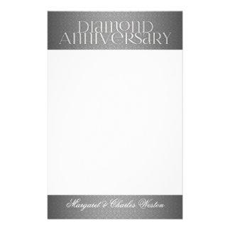60th Diamond Wedding Annivsersary Custom Stationery