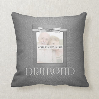 60th Diamond Wedding Annivsersary  Photo Throw Pillows