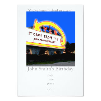 60th Drive-In Anniversary Card