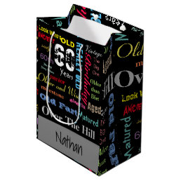 60th Happy Birthday   Milestone Medium Gift Bag