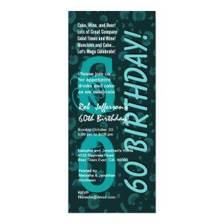60th Modern Birthday Cactus Green Leopard Camo Card