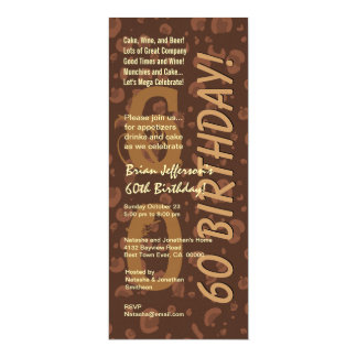 60th Modern Birthday Chocolate Coffee Camo Tall Card