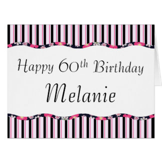 60th or Any Age Birthday-BIG Large Greeting Card