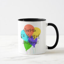60th or Any Age Personalized Name Birthday Gift Mug
