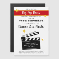 60th Or Any Birthday Party Invitation Magnet
