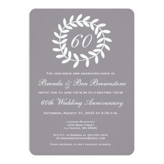 60th Silver Anniversary Invitation - Laurel