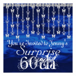 60th Surprise Birthday Butterfly BLUE Invitation