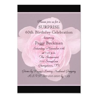 60th Surprise Birthday Party Invitation Rose