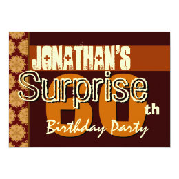 60th birthday save the date invitations announcements zazzle 60th surprise birthday save the date gold card bookmarktalkfo Gallery