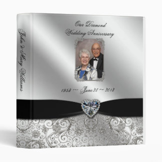 60th Wedding Anniversary 1 3 Ring Binder