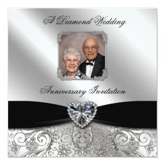 60th Wedding Anniversary 5.25x5.25 Photo Invite