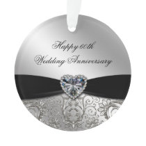 60th Wedding Anniversary Acrylic Ornament