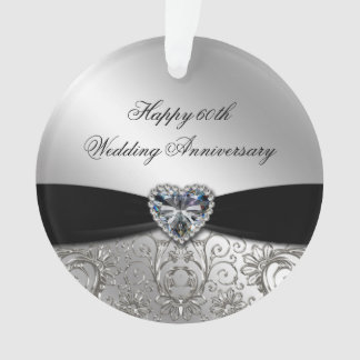 60th Wedding Anniversary Acrylic Ornament