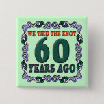 60th Wedding Anniversary Button
