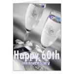 60th wedding anniversary champagne celebration cards