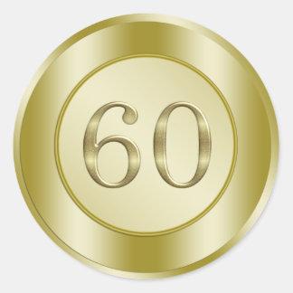 60th Wedding Anniversary Classic Round Sticker