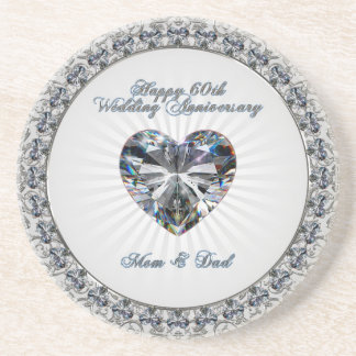 60th Wedding Anniversary Coaster
