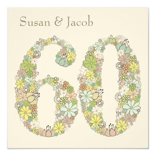 60th Wedding Anniversary Custom Invitation