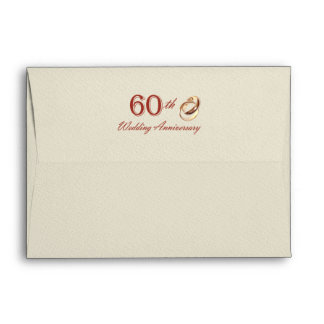 60th Wedding Anniversary  Customizable Envelopes