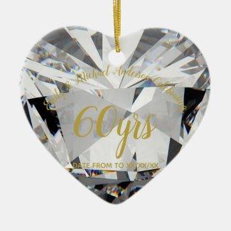 60th Wedding Anniversary Diamond PHOTO Gift