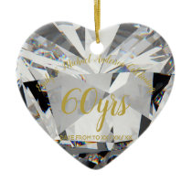 60th Wedding Anniversary Diamond PHOTO Gift Ceramic Ornament