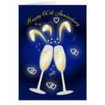 60th Wedding Anniversary Diamond Wedding Greeting Card