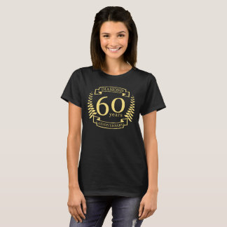 60th Wedding ANNIVERSARY diamond yellow T-Shirt