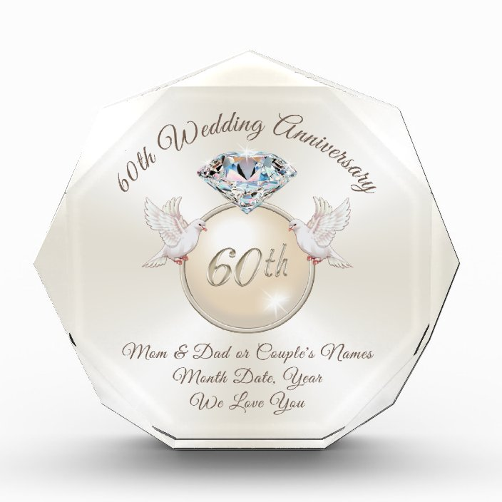 60th Wedding Anniversary Gift Ideas For Parents Zazzle Com