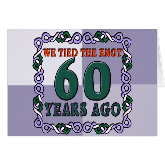 60th Wedding Anniversary Gifts Card